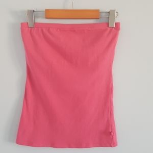 Garage pink tube top with removable halter strap